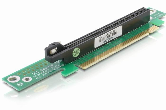 Delock emelőkártya PCI Express x16 BTX jobbos