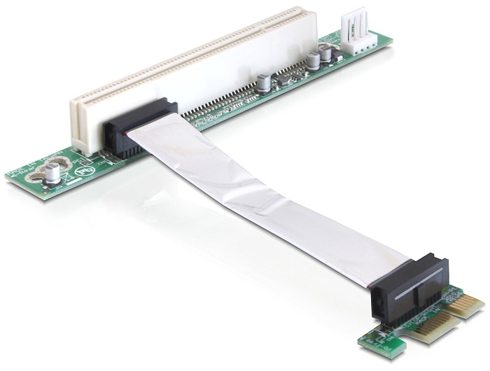 Delock Riser card PCI Express x1 > PCI 32Bit 5 V with flexible cable 9 cm left insertion