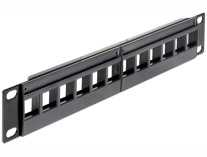 Delock 10'' keystone patch panel, 12 portos