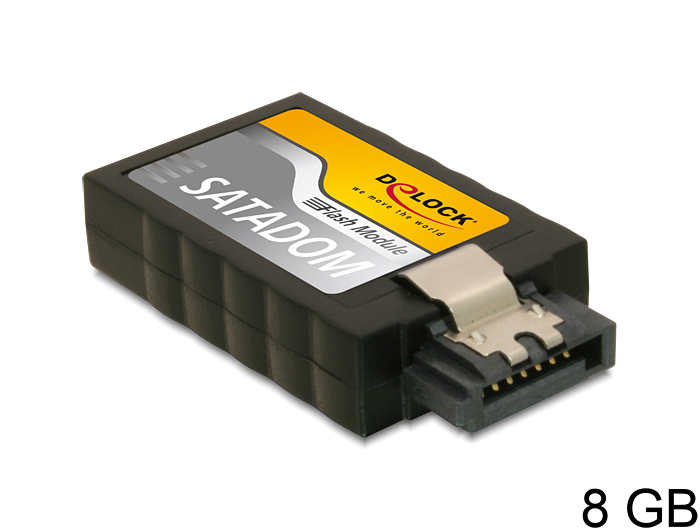 SATA 6 Gb/s Flash modul, 8 GB, függőleges