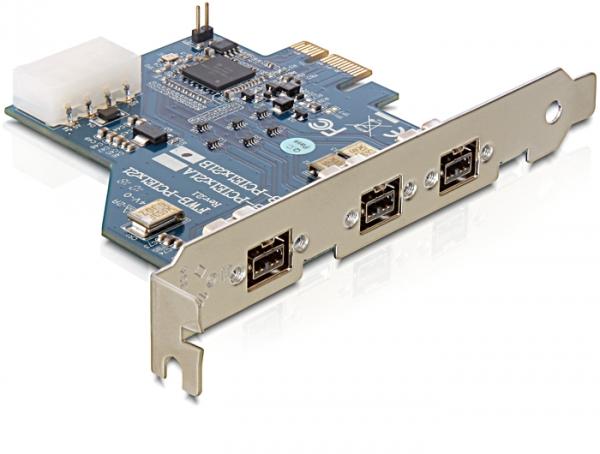 Delock PCI Kártya Card > 3 x FireWire B