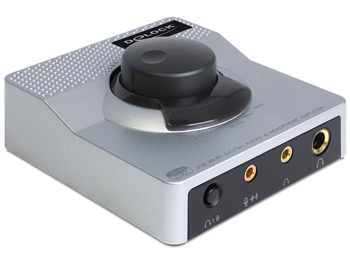 Delock USB 2.0 Sound Box, DAC 24 Bit / 96 KHz fejhallgató erősítővel