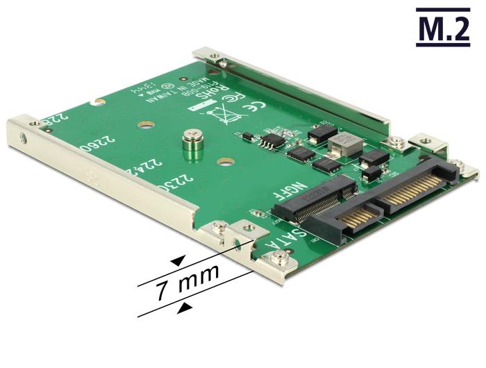 """Delock 2.5""""-es SATA 22 Pin > M.2 átalakító"""