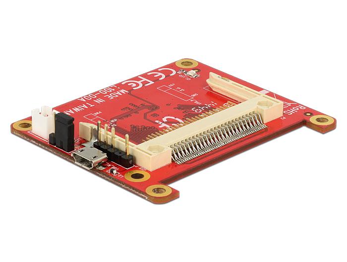 Delock konverter Raspberry Pi USB Micro-B anya / USB érintkező fejes > Compact Flash