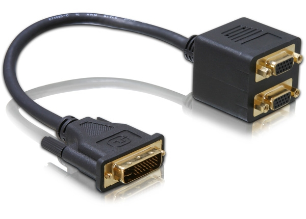 Delock Adapter DVI29 male > 2x VGA female