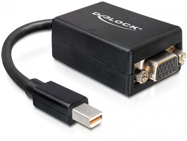 Delock adapter mini Displayport > VGA 15 pin anya - fekete