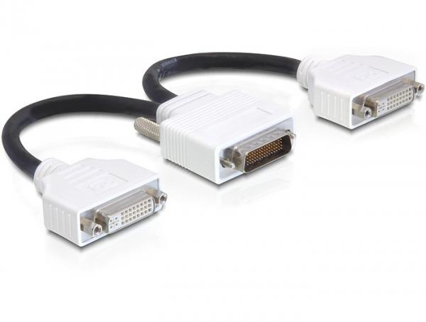 Delock Adapter DMS-59 apa > 2 x DVI 24+5 anya, 20 cm