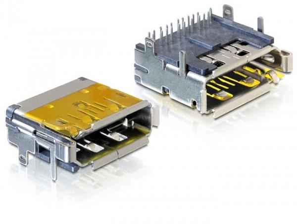 Delock Dualport anya HDMI + Displayport csatlakozó