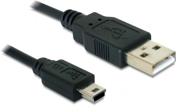 Delock Delock USB 2.0-A > USB mini-B 5 pin 1 m apa / apa kábel