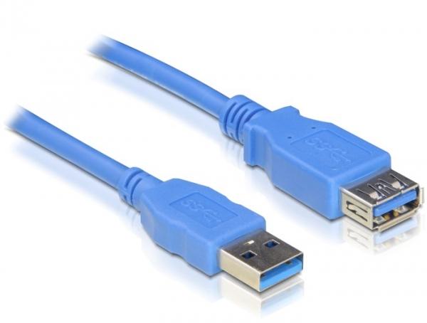Delock USB3.0-A (apa/anya), 2 méteres hosszabbító kábel