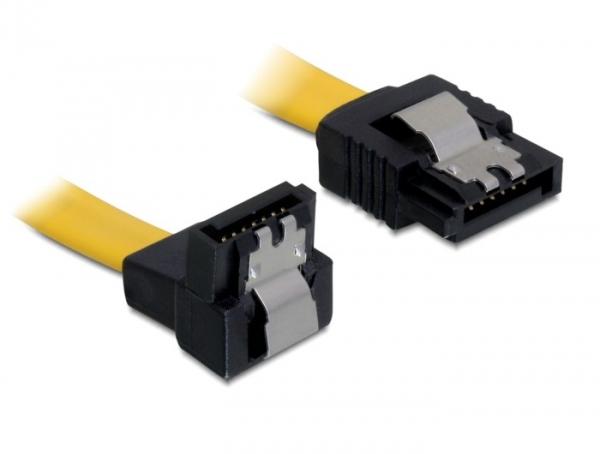 Delock SATA 6 Gb/s le/egyenes kábel, fém, 20 cm