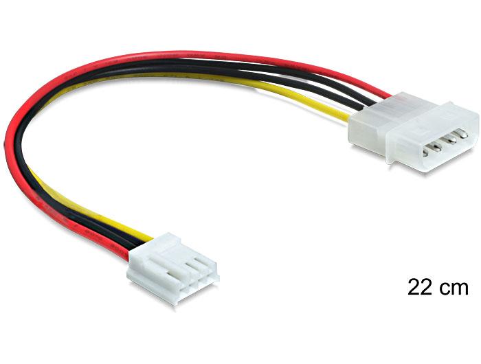Delock tápkábel Molex 4 pin apa > 3.5 floppy anya