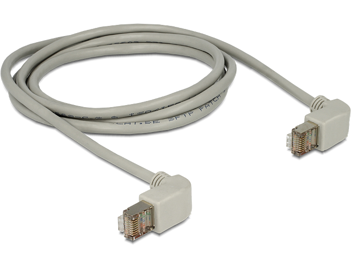 Delock Cable RJ45 Cat.5e SFTP angled / angled 1 m