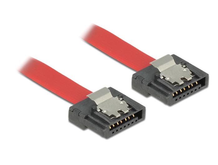Delock kábel SATA FLEXI 6 Gb/s 70 cm vörös fém