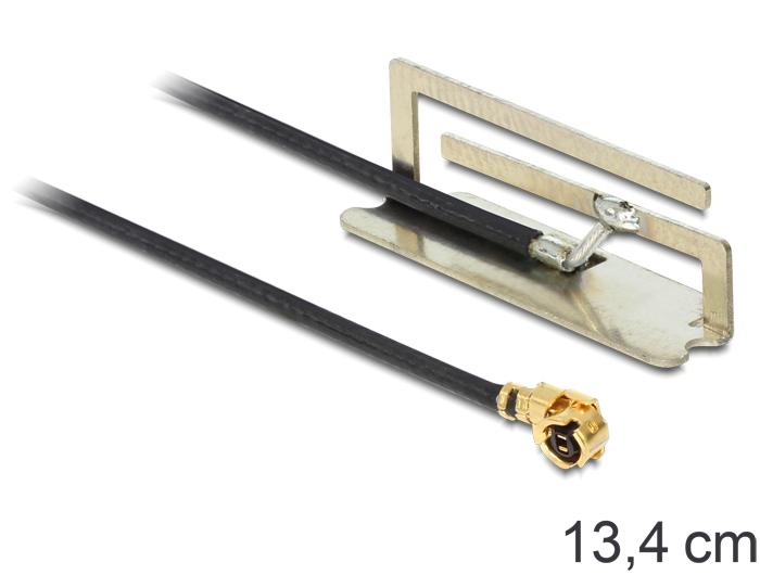 Delock WLAN antenna MHF/U.FL 802.11 a/b/g/n -4 dBi kompatibilis, 134 mm, belső PIFA