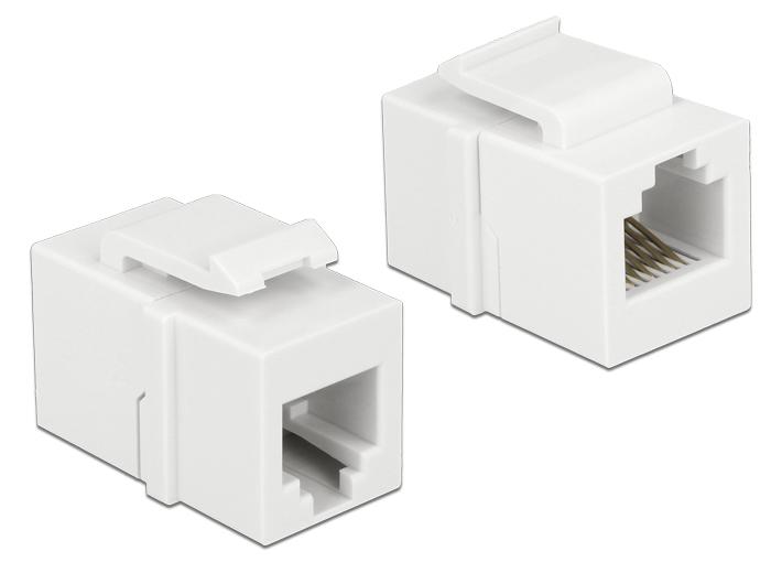 DELOCK Keystone modul RJ12 anya > RJ12 anya CAT.3 fehér