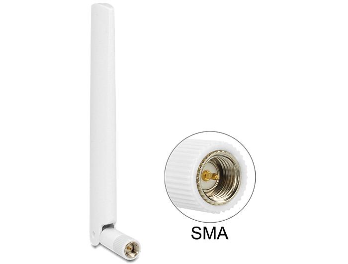 Delock LTE antenna SMA 1 ~ 2.5 dBiminden irányú antenna flexibilis csatlakozóval