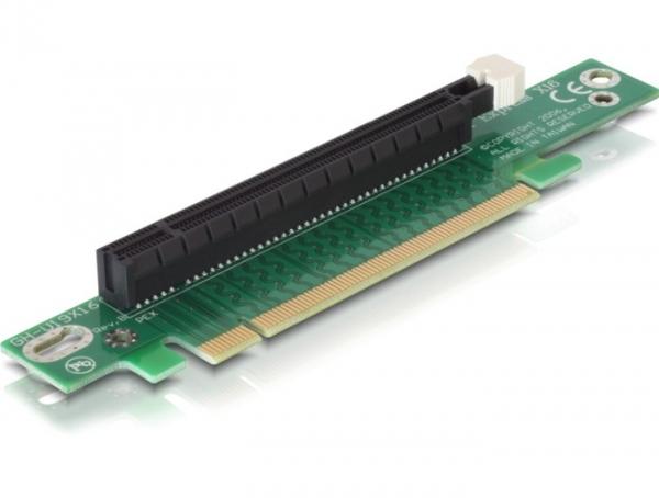 Delock emelő kártya PCI Express x16  90° elfordított, bal beillesztés
