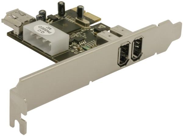 Delock PCI Express Kártya - 2 x FireWire A