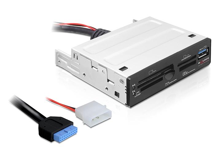 Delock USB 3.0 kártyaolvasó, 3.5 63 az 1-ben