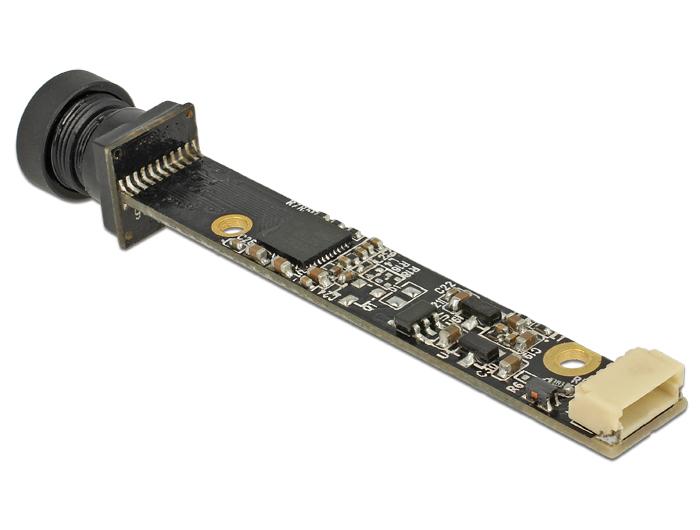 Delock USB 2.0 Camera module 5,04 megapixeles lencsével szemben, 55 fokos V5 fix fókusszal