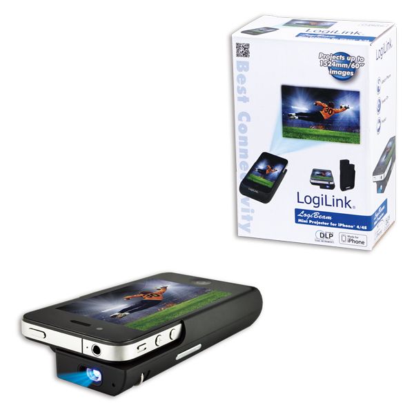 LogiLink Mini Projector iPhone®  4/4S-hez