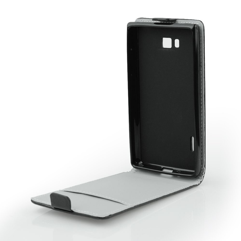 Flip Case Slim Flexi fekete - Samsung Young 2 (G130)