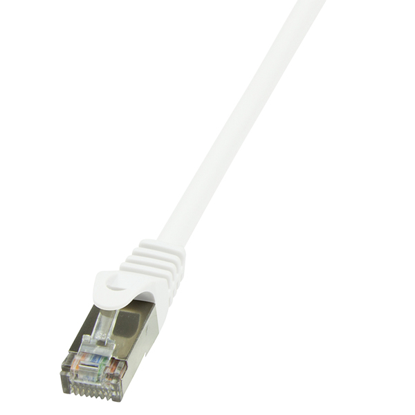 LogiLink CAT6 F/UTP Patch kábel EconLine AWG26 white 15m