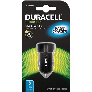 Duracell Type-C/Type-A In-Car Charger 3A