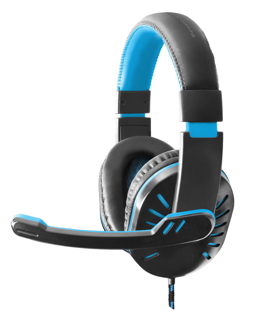 ESPERANZA HEADPHONES FOR GAMERS WITH MICROPHONE CROW BLUE