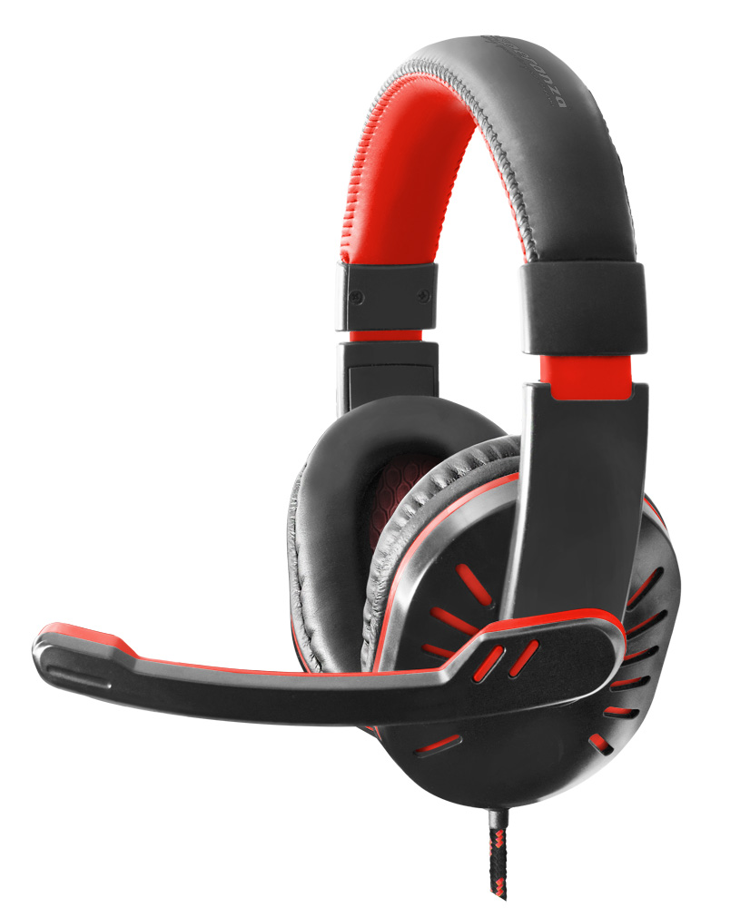 ESPERANZA HEADPHONES FOR GAMERS WITH MICROPHONE CROW RED