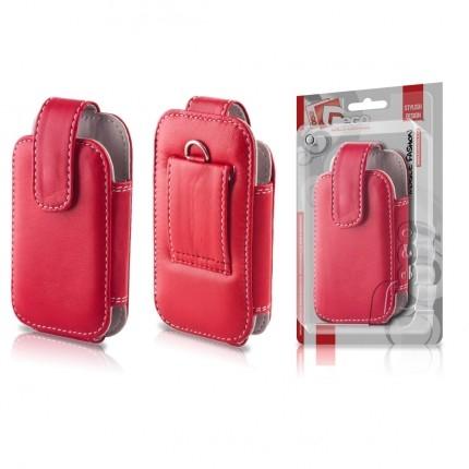 EGO Mobiltok i9300 piros bőrtok