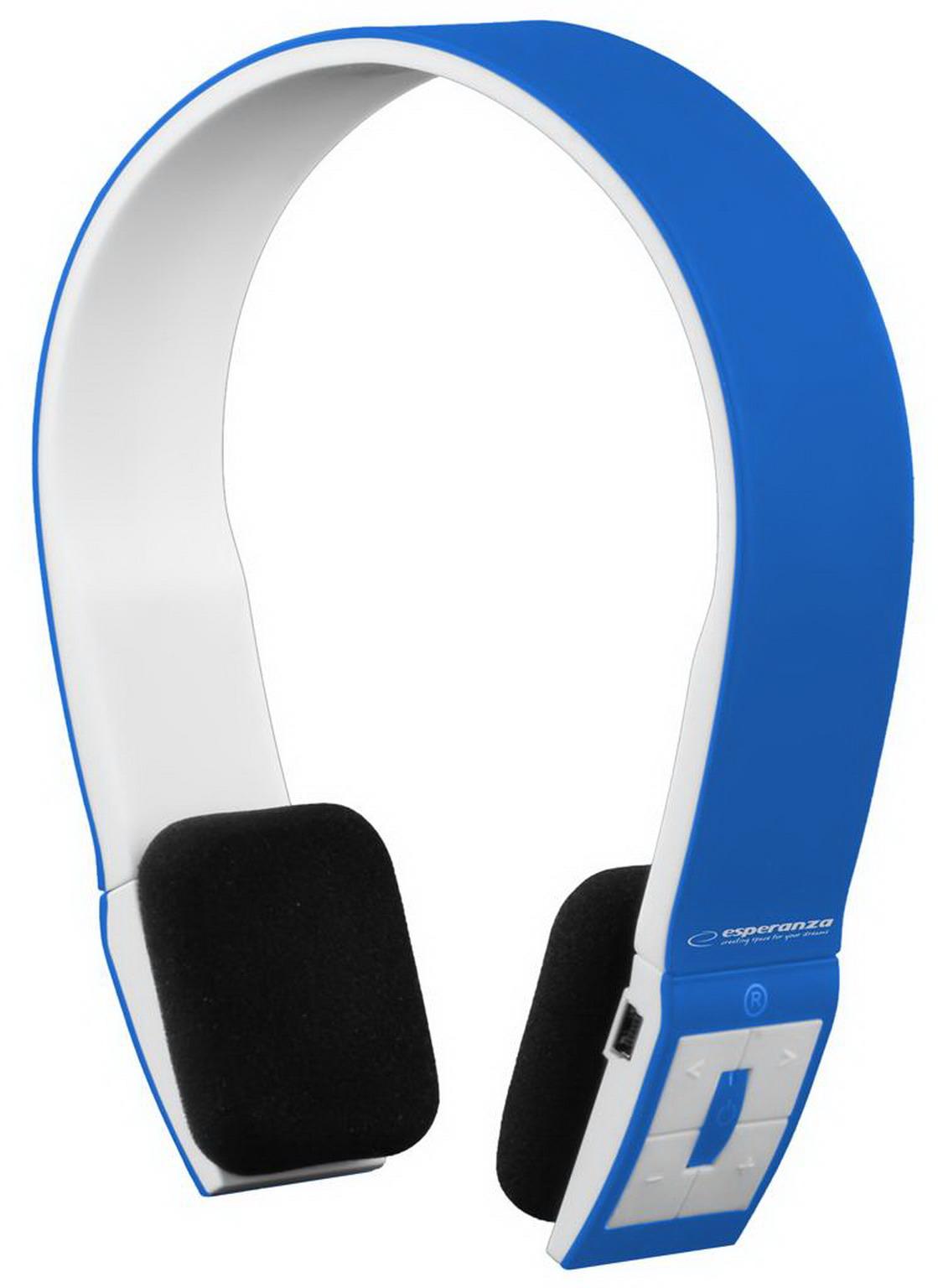 ESPERANZA City Beat Bluetooth mikrofonos sztereó fejhallgató (kék/fehér)