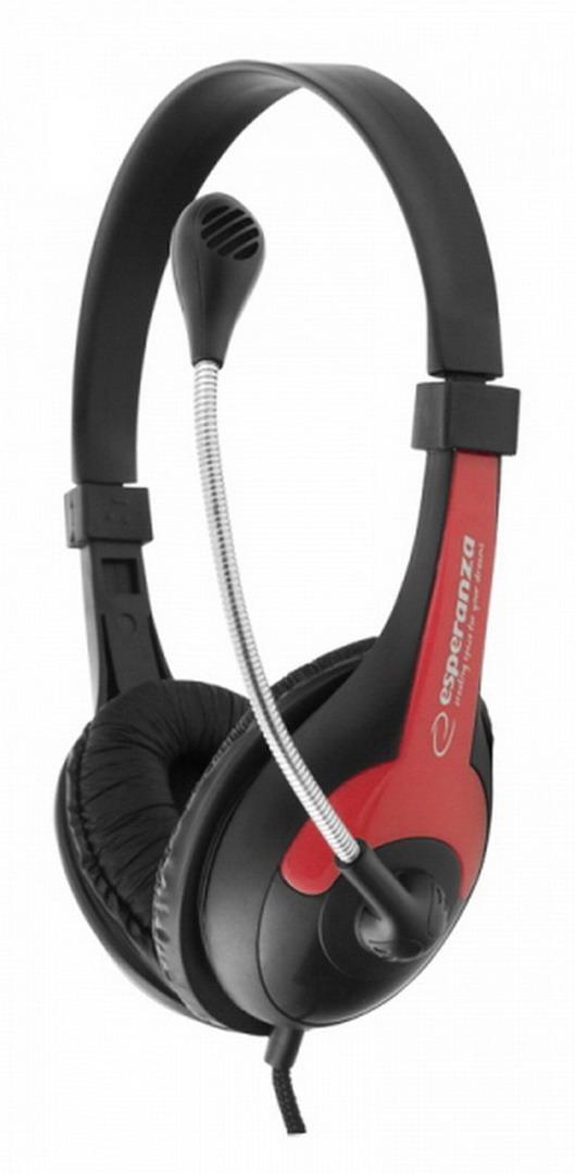 ESPERANZA ROOSTER headset piros