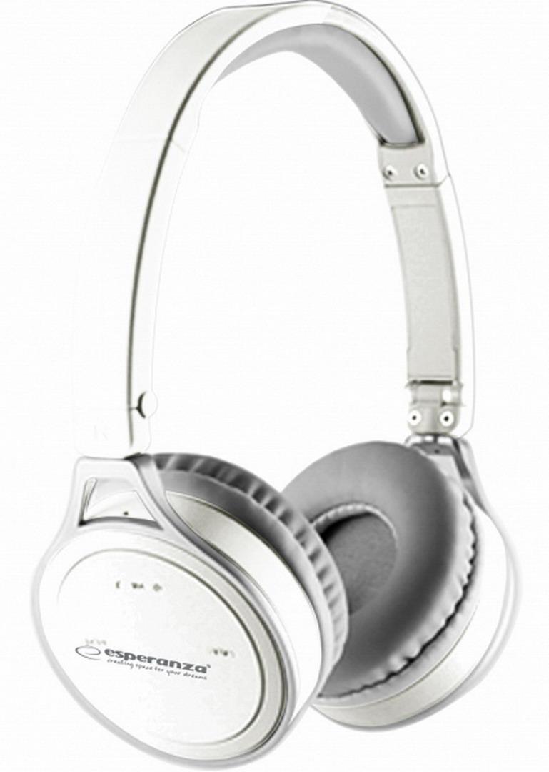 ESPERANZA YOGA Bluetooth mikrofonos sztereó fejhallgató - fehér