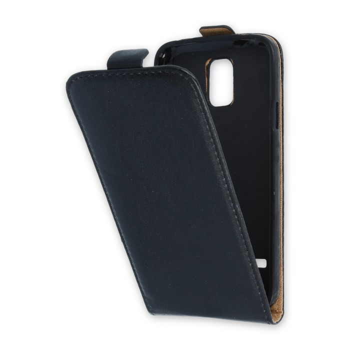 Leather case PLUS (Samsung G900/S5) Fekete