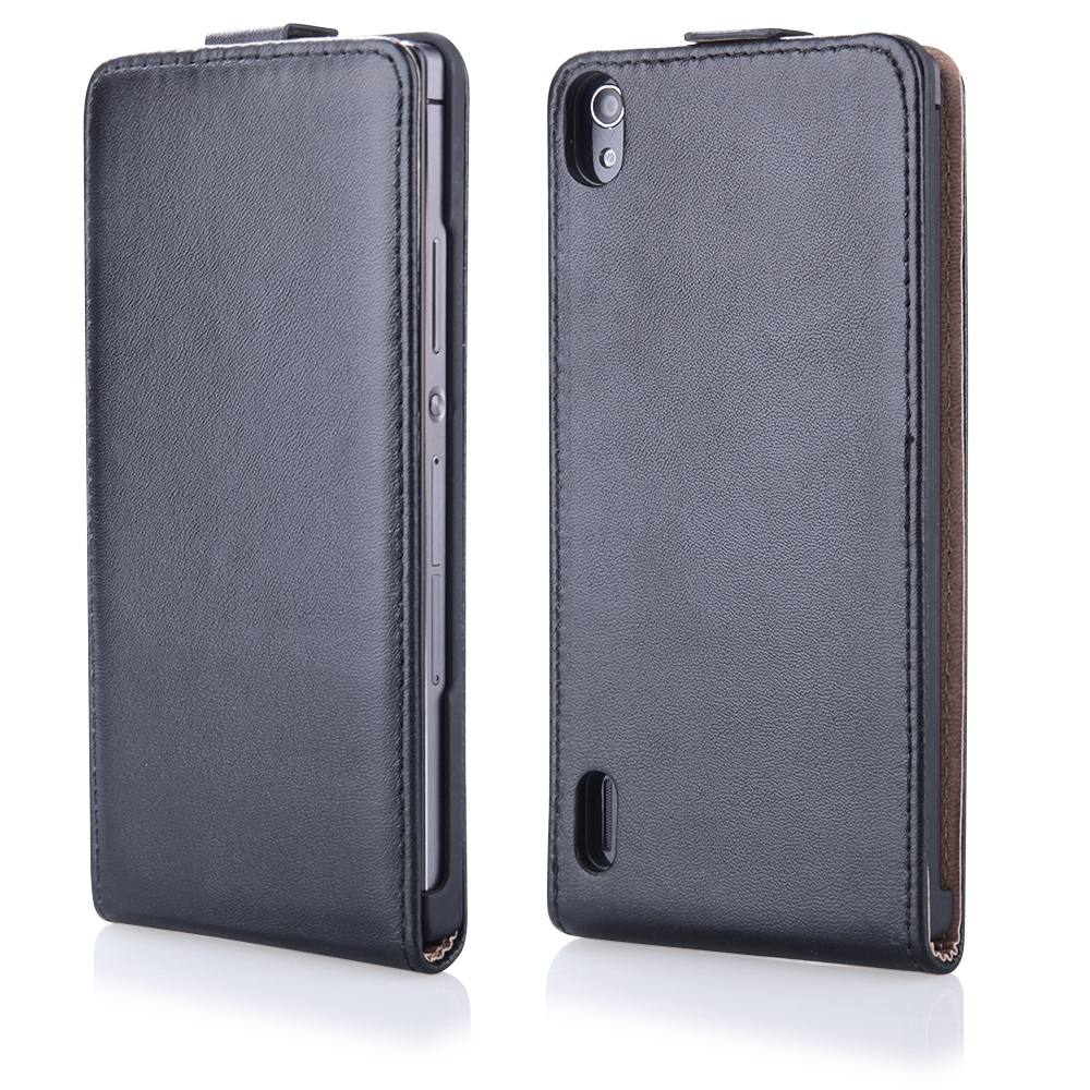 Case Slim with holder (Huawei P7) Fekete