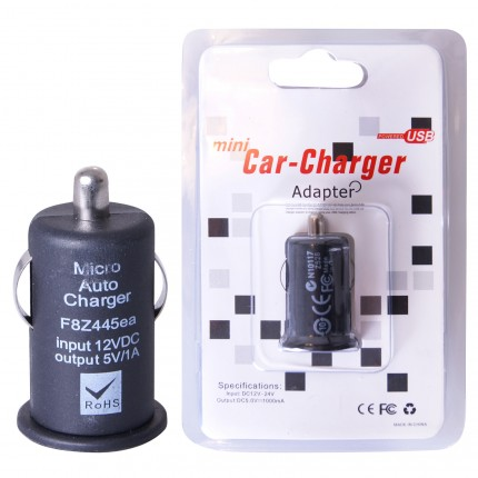 GT szivargyújtós USB autós töltő 1A fekete