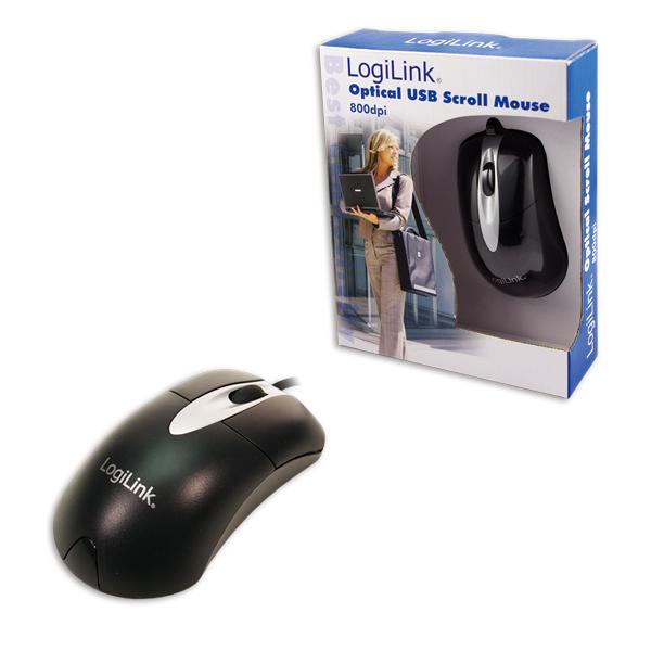 Logilink USB-s Optikai Egér, 800 dpi