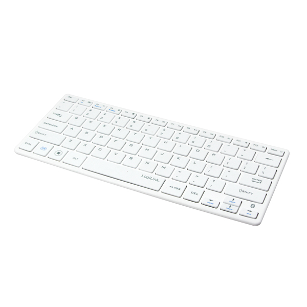 LogiLink Bluetooth Wireless Slim Keyboard, White