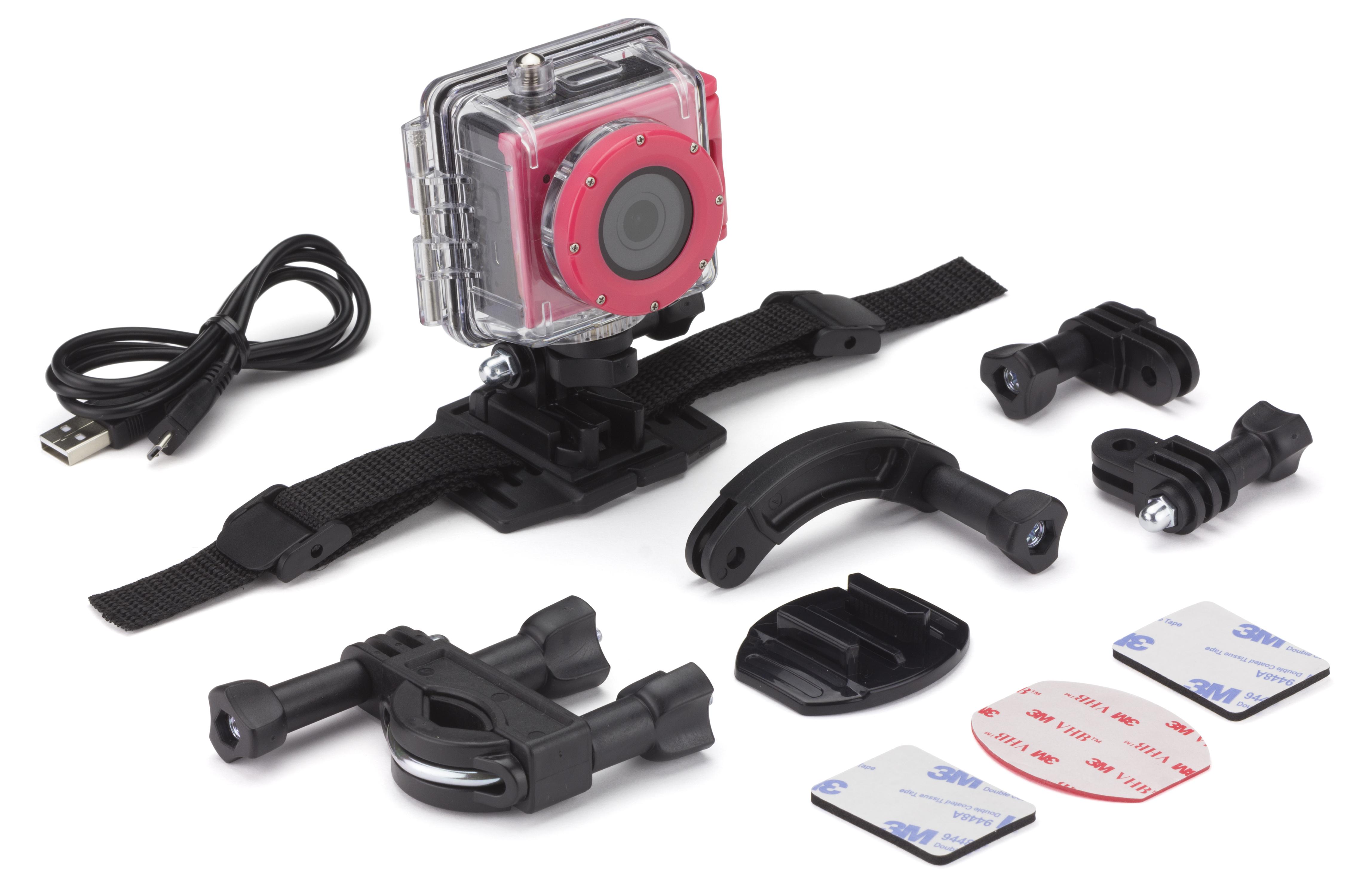 Kitvision Splash Full HD akció kamera – rózsaszín