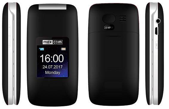 Maxcom MM824CZ Dual SIM Mobiltelefon fekete