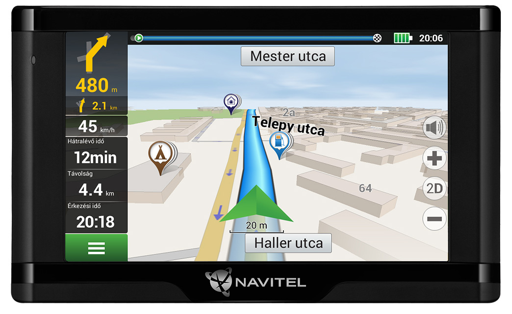NAVITEL E500 MAGNETIC GPS Navigáció