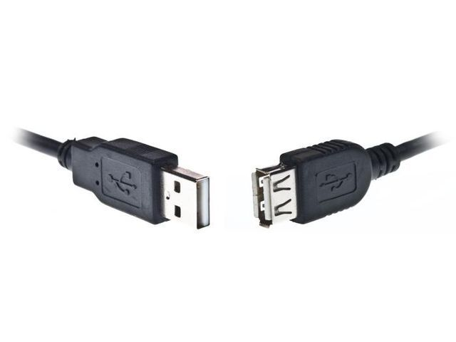 EXTREME MEDIA EXTENDER USB AM-AF 2.0 3.0M BLACK