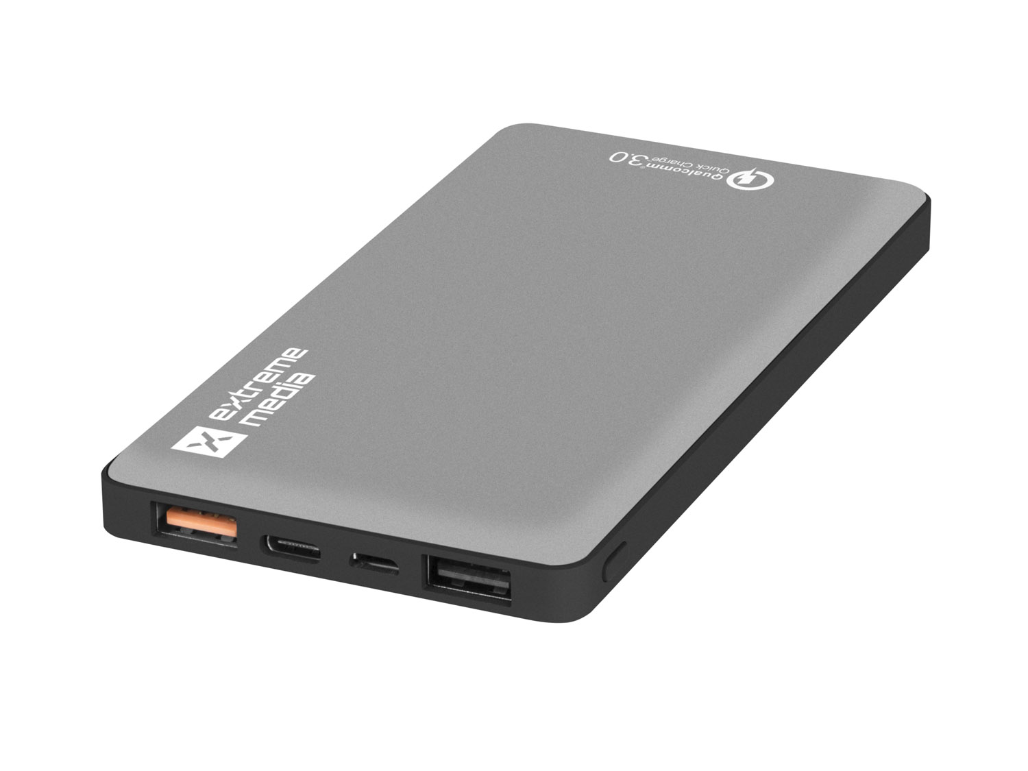 EXTREME MEDIA POWER BANK QUICK CHARGE 3.0 GREY 10000MAH