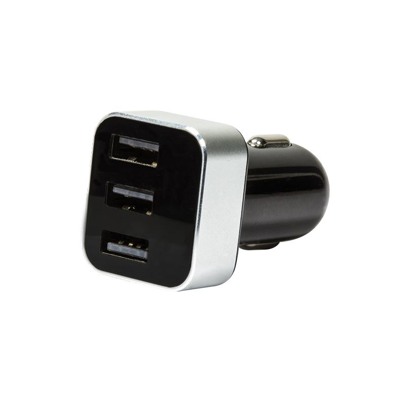 Logilink autós 3 portos USB töltő (3,1A) kijelzővel