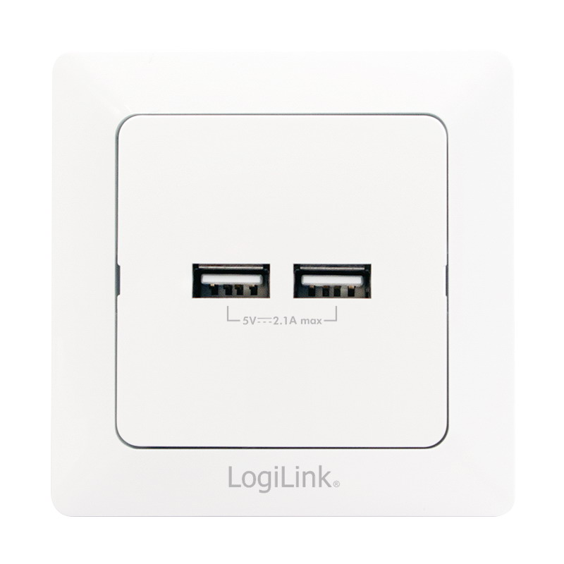 LogiLink 2-Port USB wall outlet