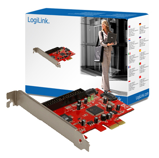 Logilink PCI Express Card,2-Port SATA + 1-Port ATA133