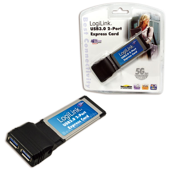 LogiLink USB 3.0-ás 2 portos Express Card