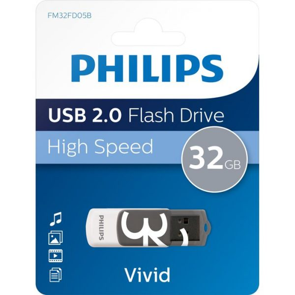 Philips Vivid 32Gb USB Flash Drive